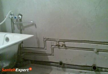 Скрытый монтаж водоснабжения и канализации без пыли