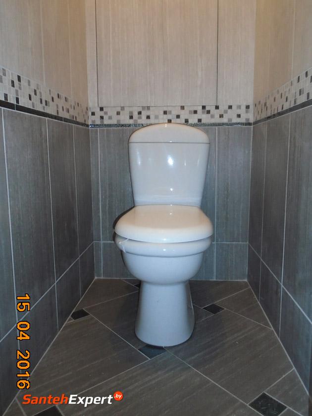 Ремонт ванной комнаты и туалета под ключ по ул. Каменогорской, Минск
