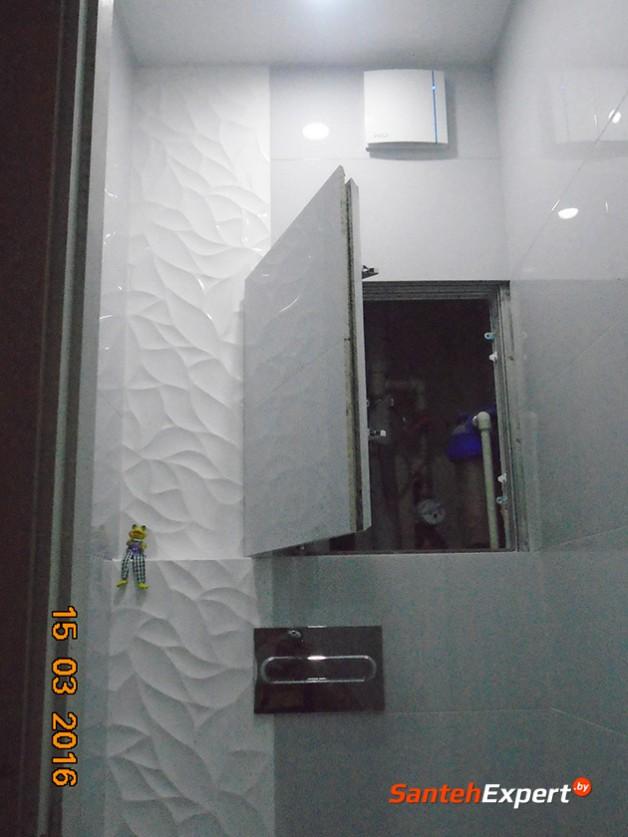 Ремонт ванной комнаты и санузла под ключ, ул. Жиновича, Минск