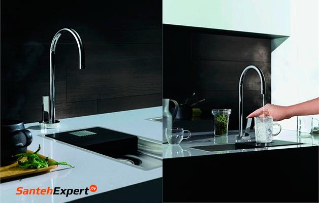 Ремонт квартиры в новостройке Минска: смеситель для кухни с фильтром