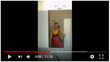 Видео-отчёт по ремонту ванной и туалета под ключ на Чюрлениса в Минске