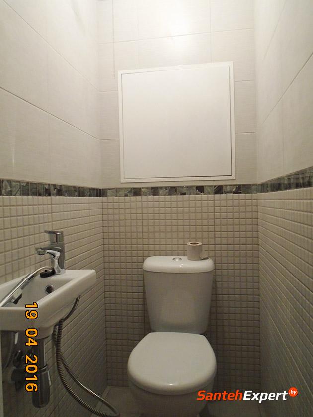 Ремонт ванной комнаты и санузла под ключ в Боровлянах за 13 рабочих дней с разводкой коммуникаций, монтажом электрики, облицовкой плиткой, чистовой установкой сантехнической посуды.